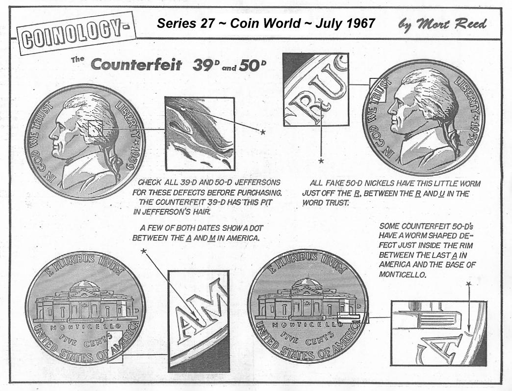Jefferson nickel conterfeits