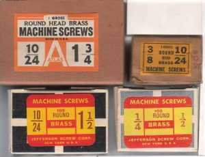 Machine Screws Boxes All made in USA!