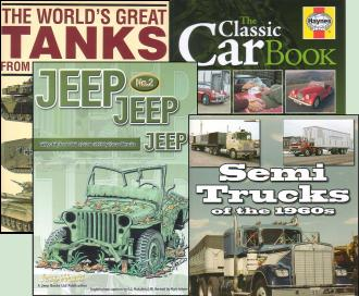 4 automotive and military books