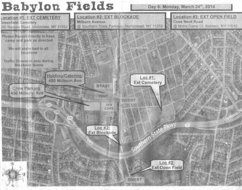 Babylon Fields Day 6 shooting locations map