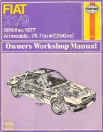 Fiat X1/9 Workshop Manual